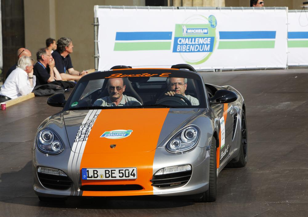 Porsche Boxter E prototype on show at the Michelin Challenge Bibendum in Berlin