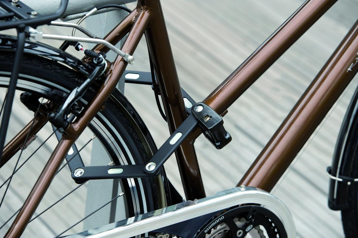 Abus' Bordo folding locks use linked bars to secure the bike