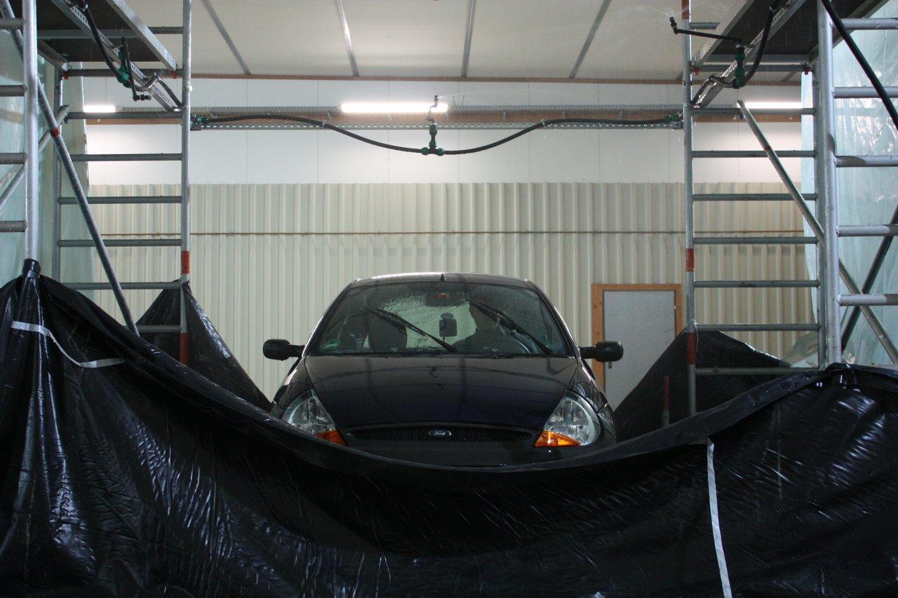 The RainCars project's lab setup