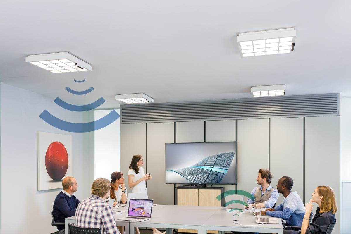 The Trulifi system uses light for wireless comms, with a version available that's capable of a steady 250 Mbps up and down