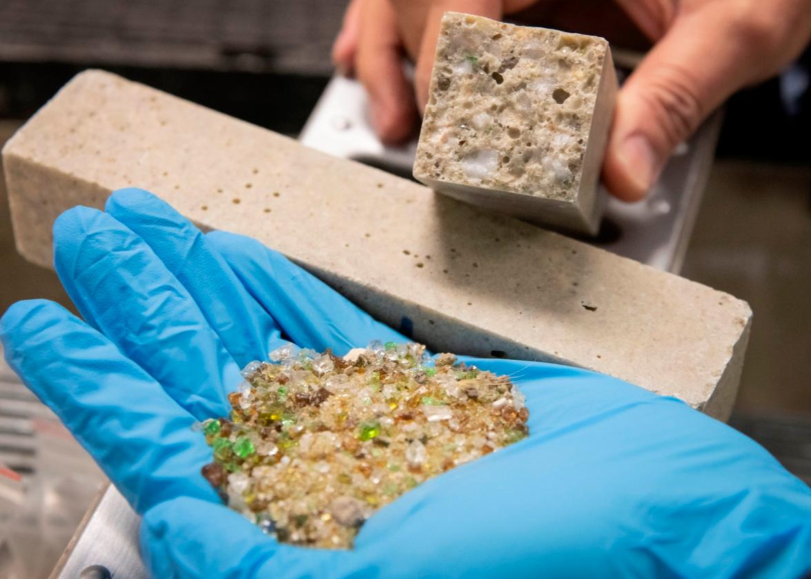 The scientists utilized types of glass that were unsuitable for traditional recycling