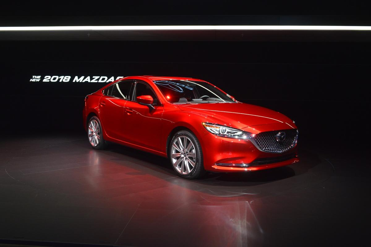 The new Mazda 6 receives a minor exterior face lift, a new interior and the CX-9's 2.5-liter turbocharged SkyActiv engine as part of the flurry of updates for 2018