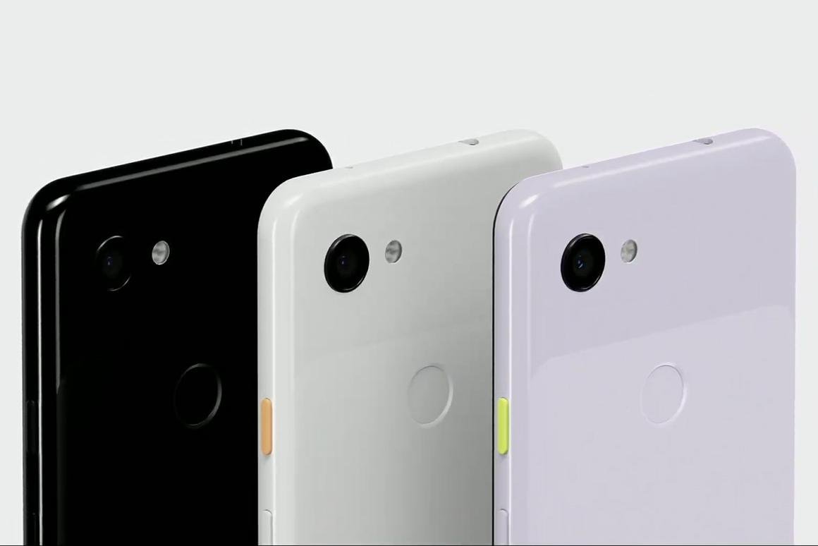 The Pixel 3a and Pixel 3a XL are available in three colors