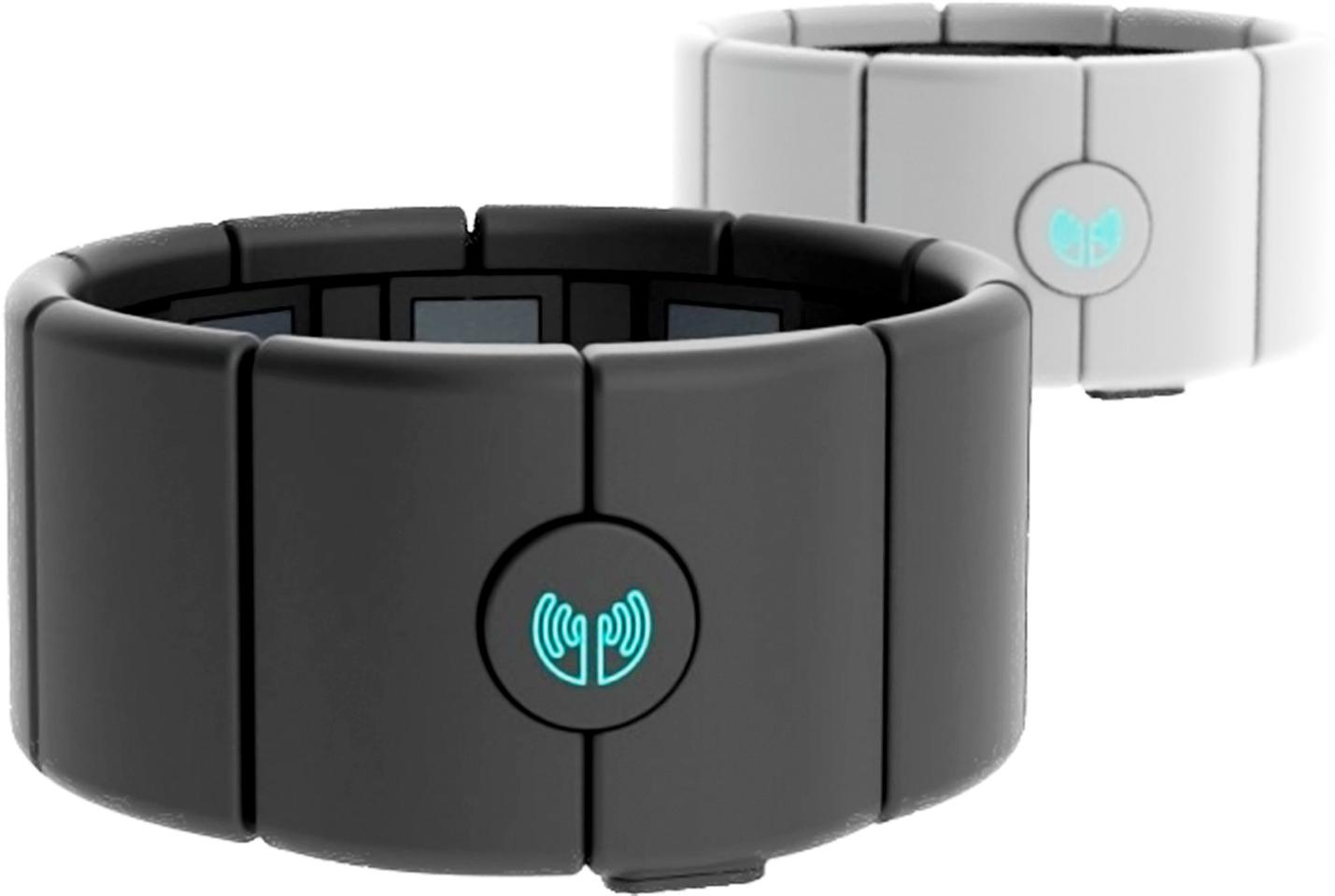 MYO is an armband that senses your muscular activity and movement through space