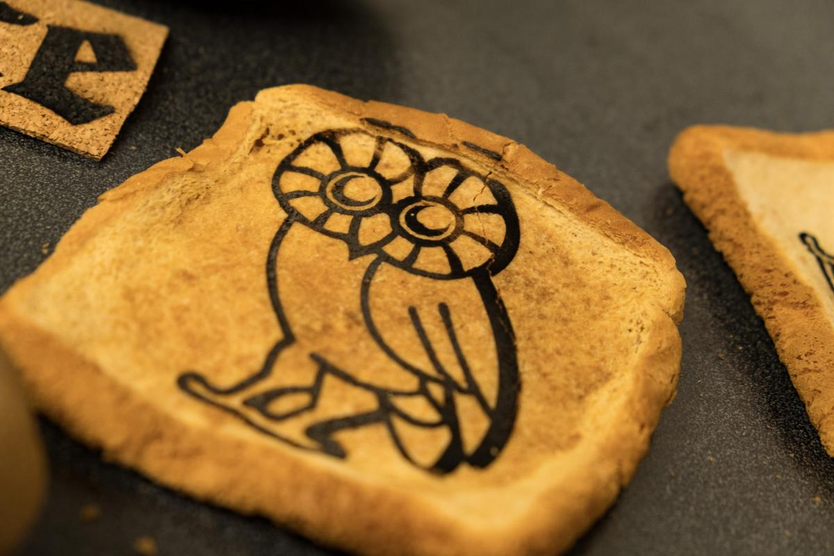 The James Tour lab at Rice University has developed a way to etch ediblegraphene onto foods like toast and potatoes