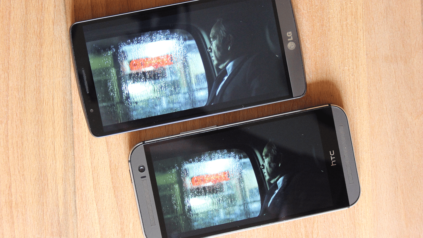 Contrast ratios are a little better on the HTC device (Photo: Chris Wood/Gizmag.com)