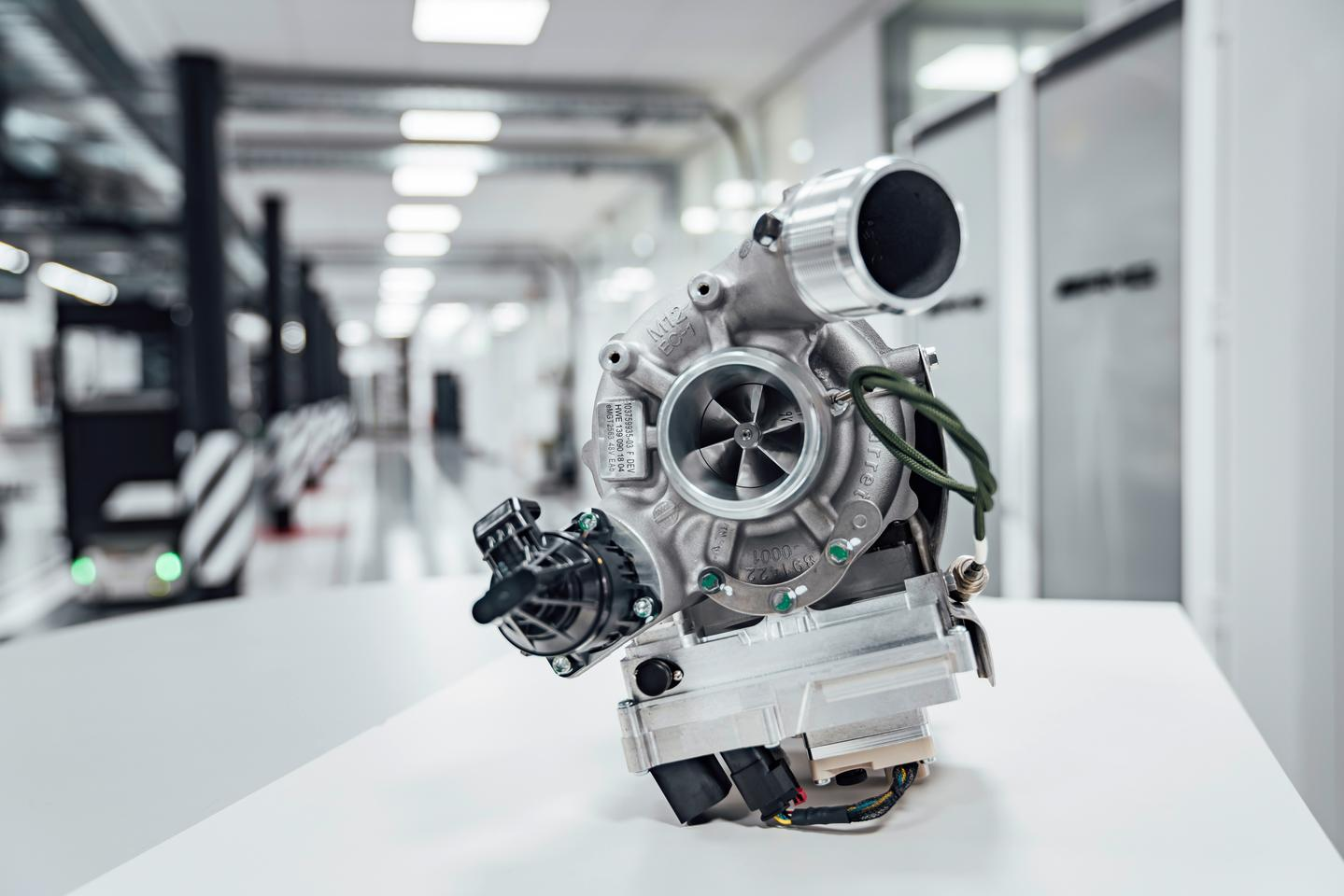 Coupling a small electric motor to a turbocharger will help Mercedes-Benz eliminate turbo lag, allowing engines to run bigger, more powerful and more efficient turbo systems without affecting responsiveness
