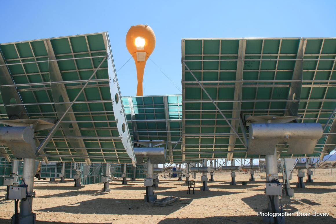 AORA's Tulip system uses the sun's rays to heat air, which is then used to spin a turbine, creating electricity