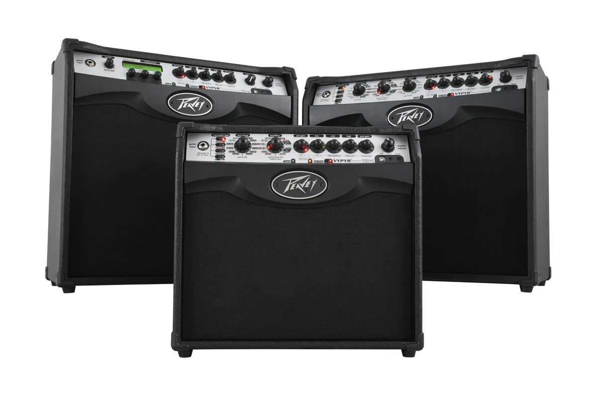 Peavey is now shipping three Vypyr VIP amps featuring variable instrument input