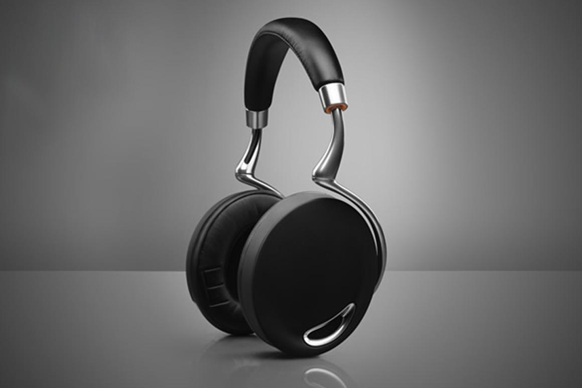 Parrot's Zik wireless headphones feature a touch panel on the right earpiece