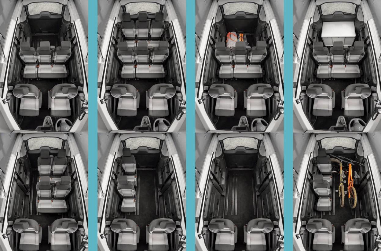 From eight seats, to camper van, to empty cargo van ... the layouts of the SpaceTourer Vanster