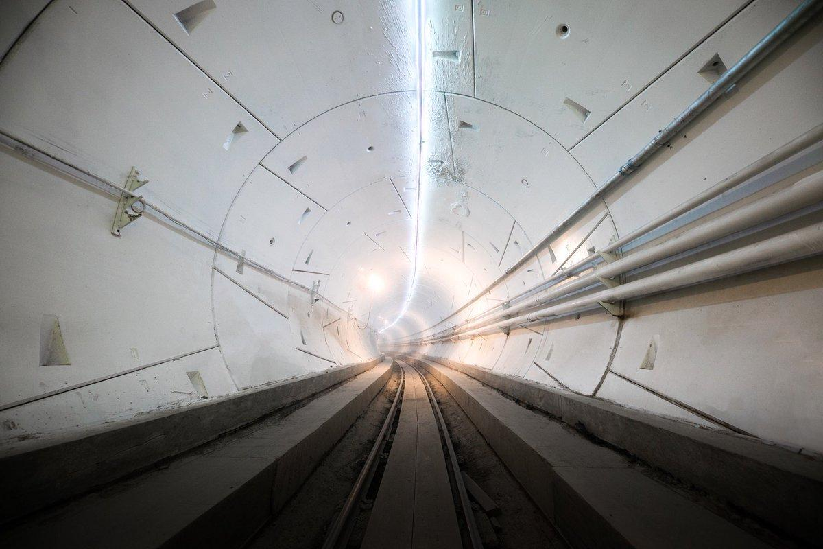 The first piece of what Elon Musk hopes will become a sprawling network of tubes whizzing passengers along beneath city congestion