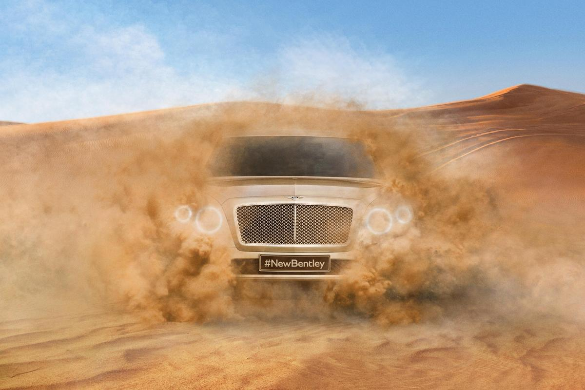 Bentley teases its upcoming production SUV