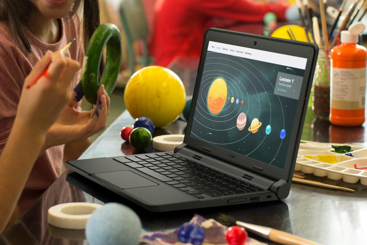 Dell's latest education-centric offerings, which include the new Chromebook 11 (pictured), are durable and compact