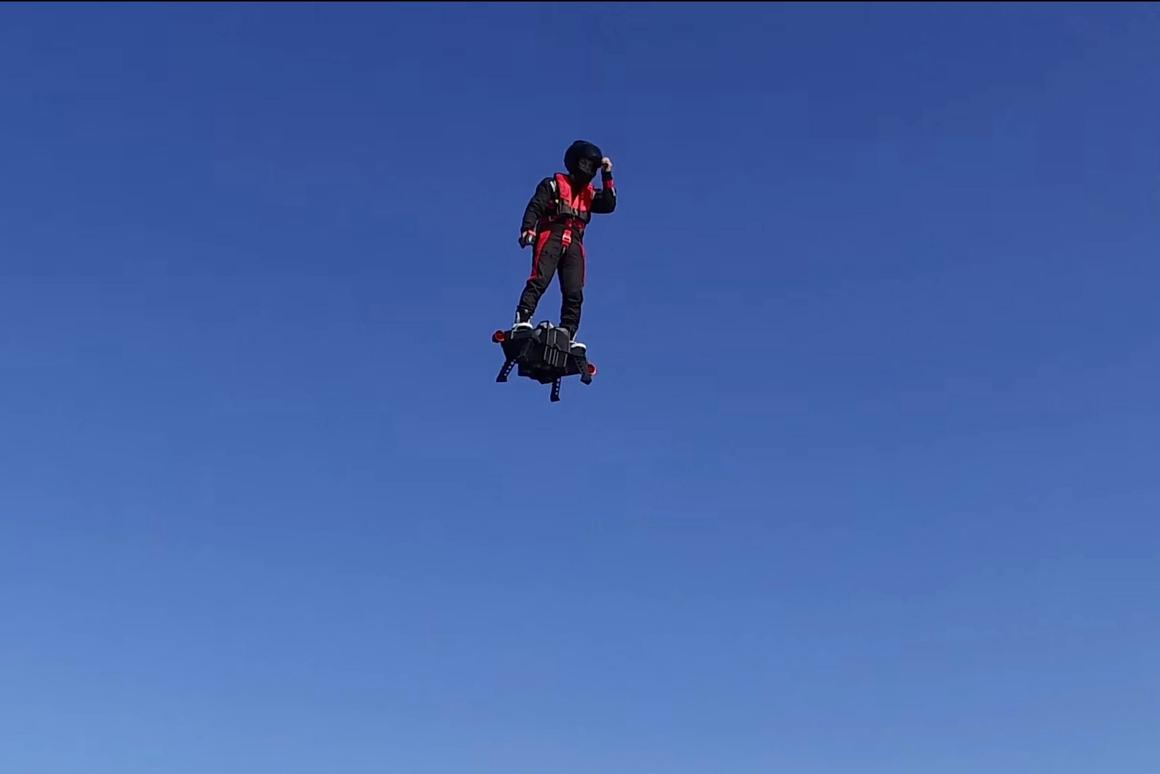 Flyboard Air: Franky Zapata looks strangely calm for a man standing on nothing but a pile of jet thrust