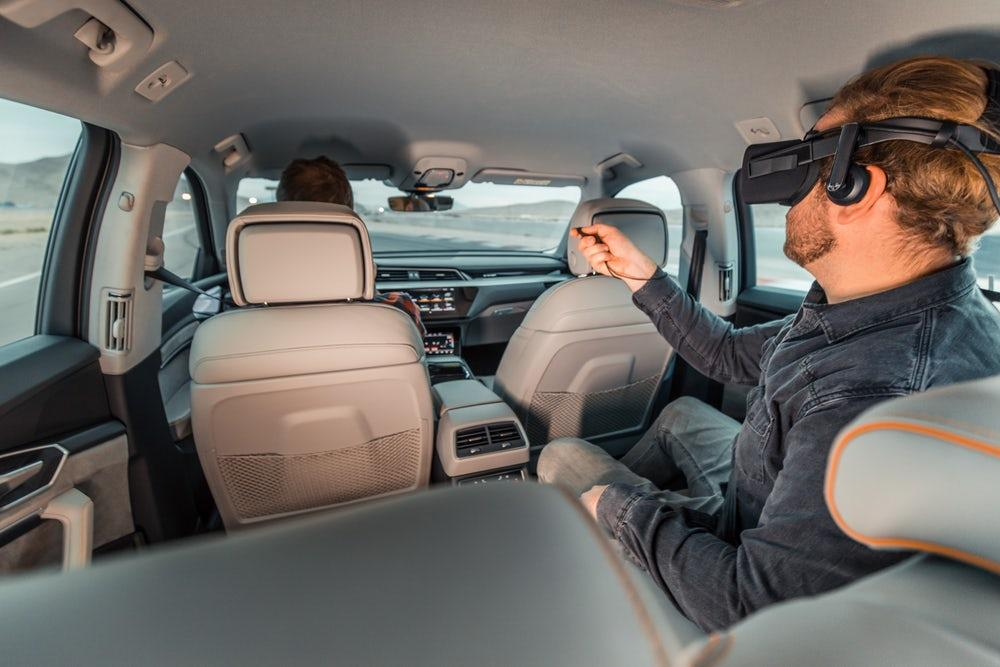Audi'snew in-car VR setup determines onscreen movements based on what the vehicle is doing in real life