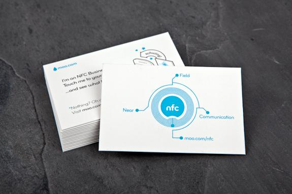 The Moo NFC business card offers users a more alluring experience than manually typing in a website address