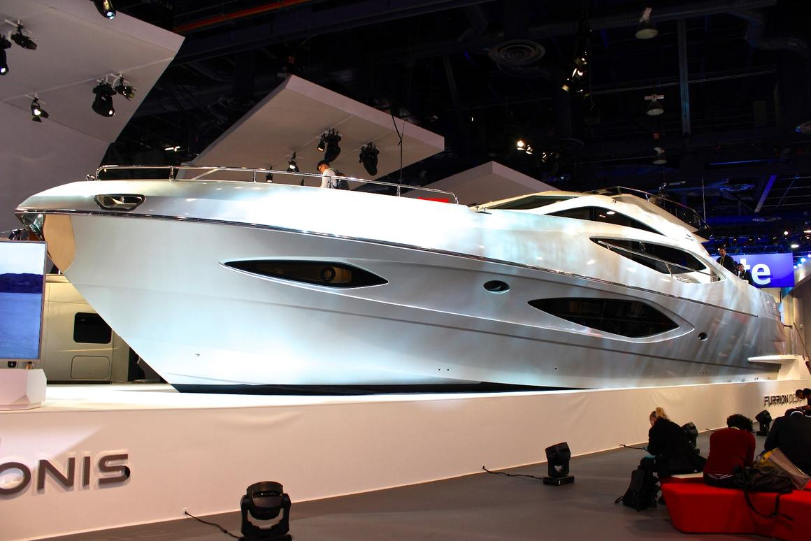 Furrion says the Adonis is the first yacht to ever be displayed at CES