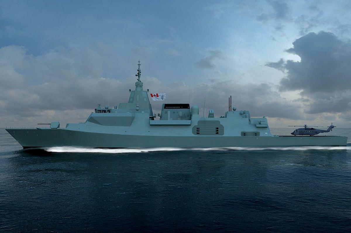 Artist's concept of the Type 26 in Canadian livery