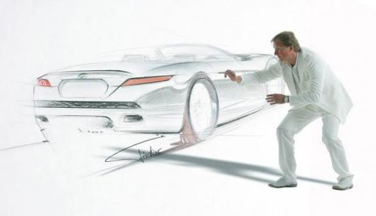 Henrik Fisker and the first sketches of the Fisker Tramonto