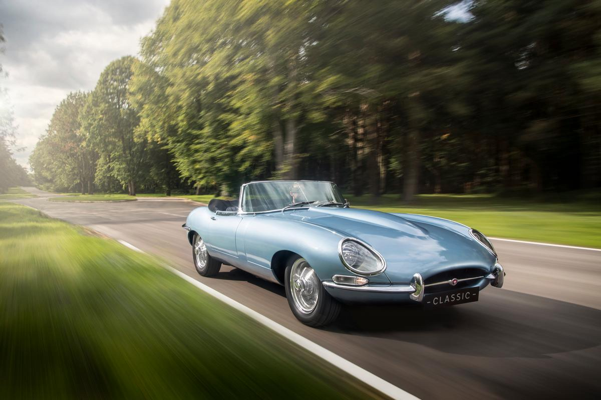 The E-type Zero is a Series 1 E-type whose chassis and exterior have been painstakingly restored to original