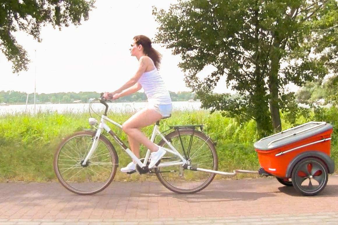 Skip the car and carry your grill by bike, foot or public transportation