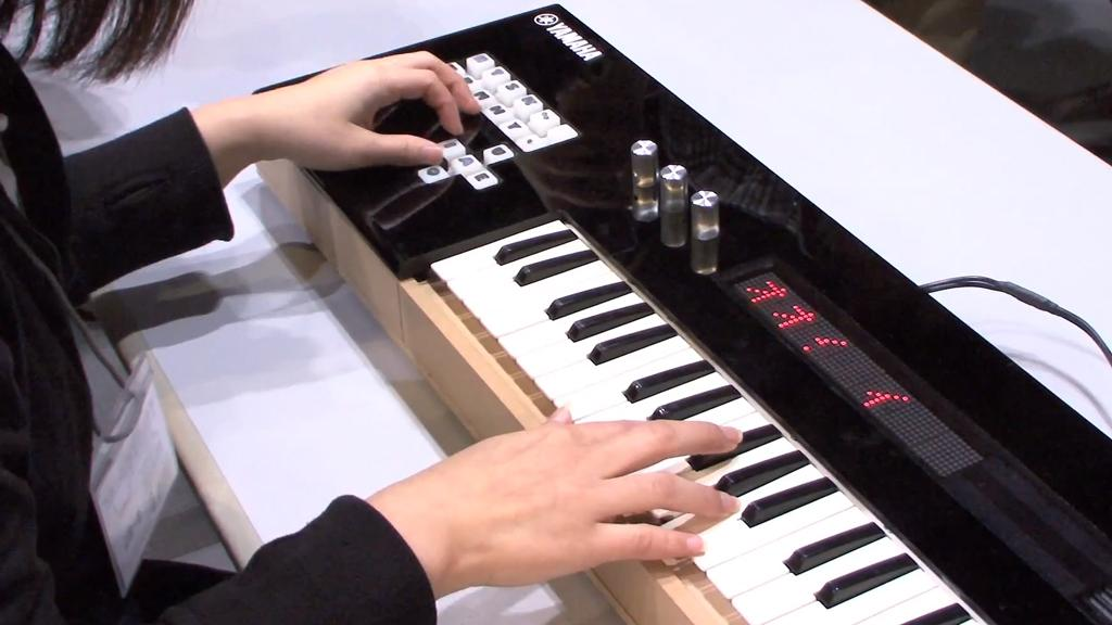 The Vocaloid keyboard lets users synthesize a singing voice in real time (Photo: DigInfo)