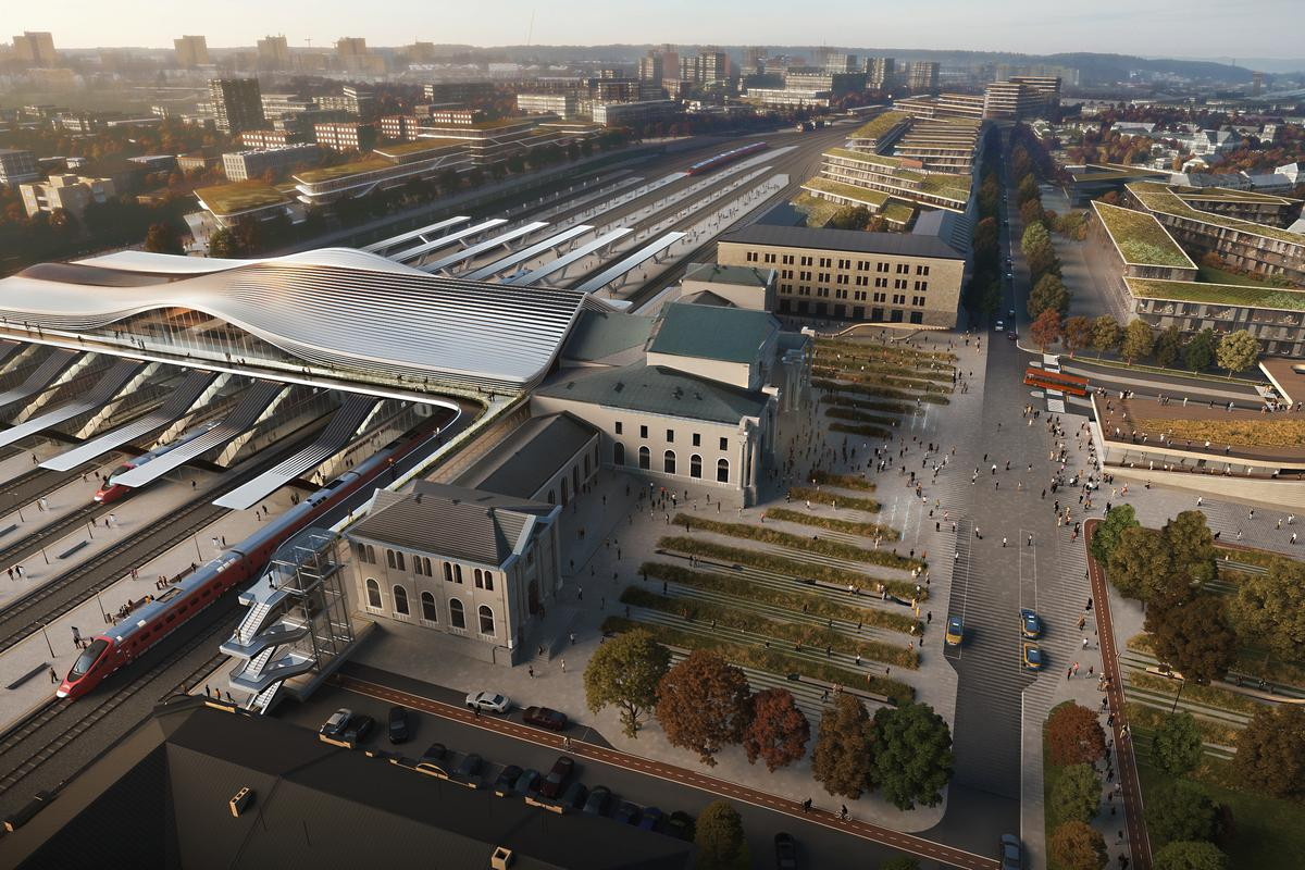Green Connect will involve the renovation of an existing train station and the addition of a contemporary pedestrian bridge