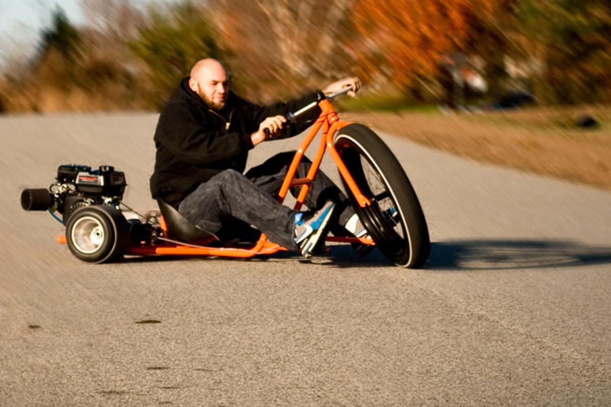 The Big Wheel Drift trike is proportioned to make an adult rider feel like a kid again