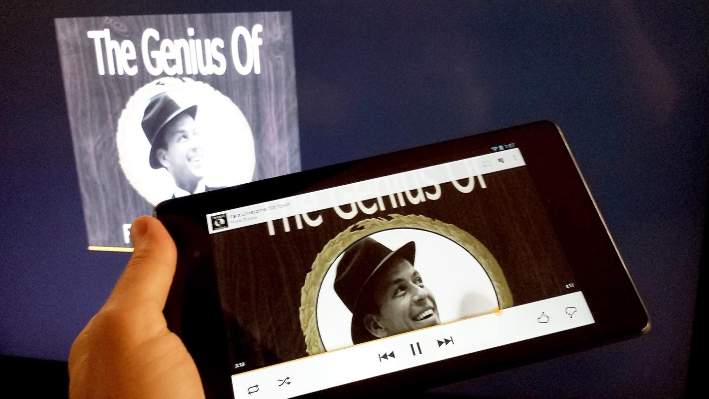 Queue up Sinatra on your mobile device, and listen to The Chairman croon on your TV