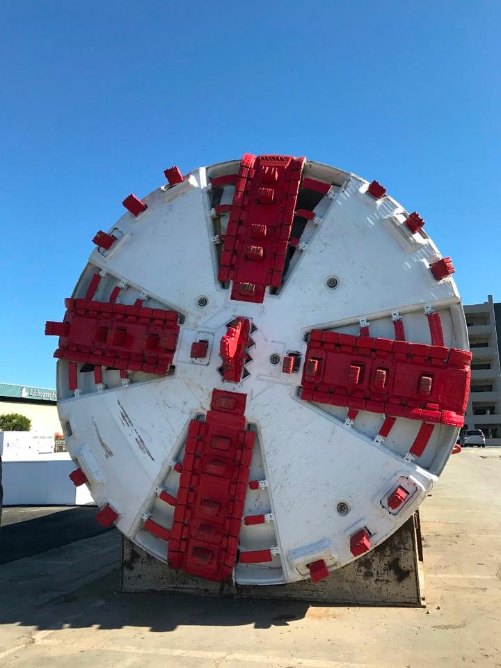 The Boring Company's tunneling machine
