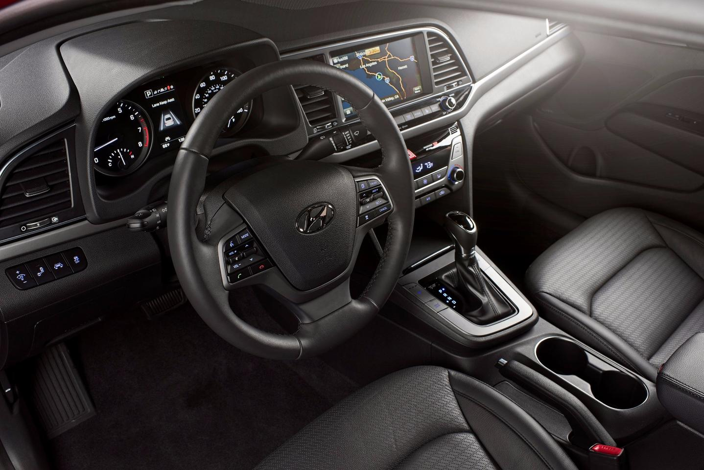 A very measurable change inside the 2017 Hyundai Elantra is with its equipment layout and overall refinement