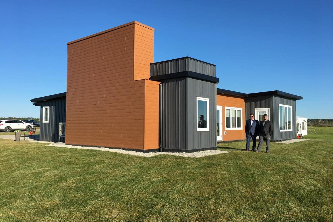 JD Composites has completed its first concept home, built usingover 600,000 recycled plastic bottles