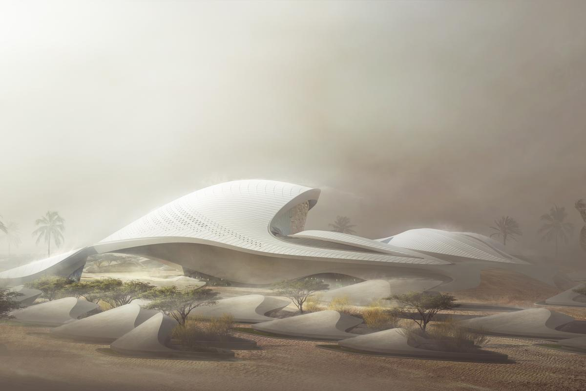 The new Bee'ah headquarters will be located in Sharjah, United Arab Emirates (Image: Zaha Hadid Architects / MIR)