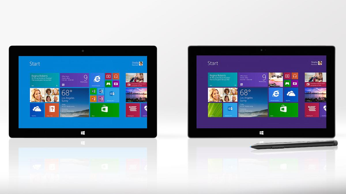 Gizmag compares the features and specs of the Microsoft Surface 2 (left) and Surface Pro 2