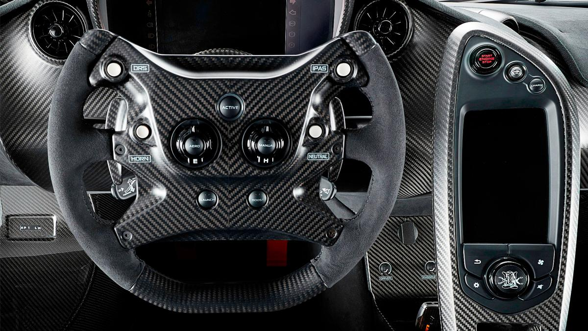An indication of the extent to which Lanzante went in creating the P1 LM is the Alcantara-trimmed steering wheel. All five LMs use a modified version of the wheel used in the McLaren MP4/23 driven by Lewis Hamilton to win the 2008 F1 drivers title.