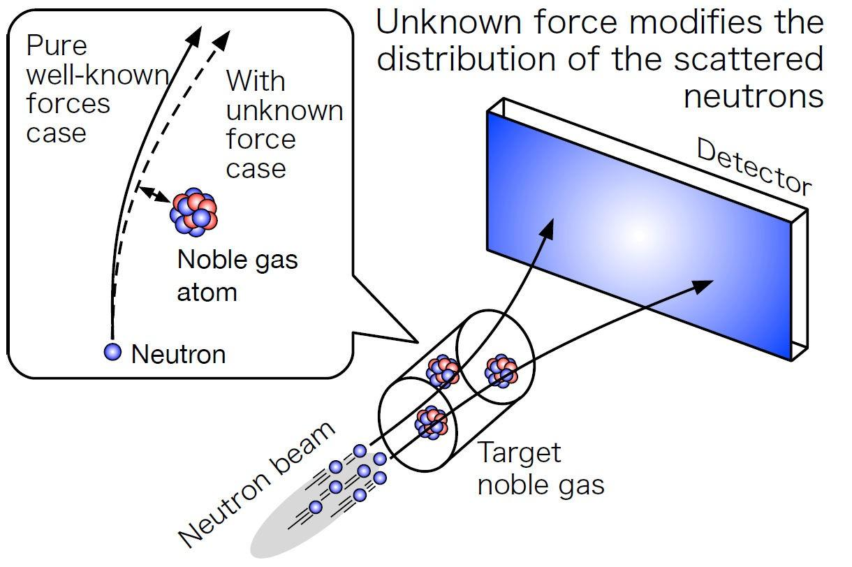A diagram explaining how the neutron beam experiment works