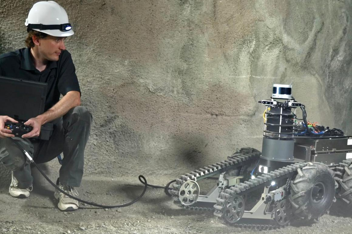 One of team CoSTAR's cave-exploring robots, which will be participating in the DARPA Subterranean Challenge this week