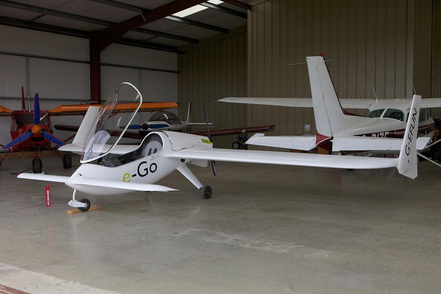 The e-Go aircraft is made of pre-preg carbon fiber, with foam in the wings