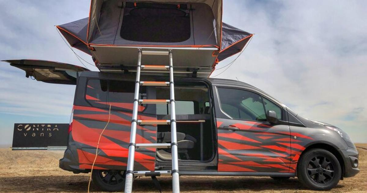Fiery $35K+ Ford mini-campervan seats and sleeps a family of five