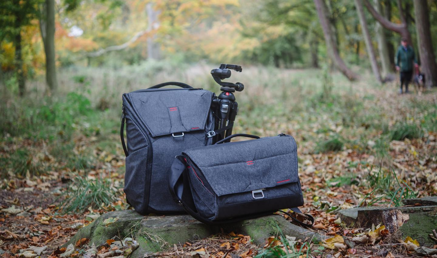 The Peak Design Everyday Backpack with the Everyday Messenger