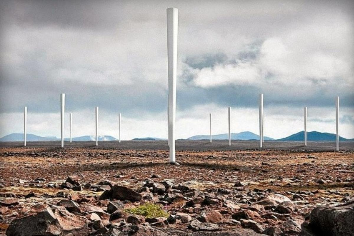 Groups of Vortex units can be placed close together as the disruption of the wind stream is not as critical to operation as it is for traditional, blade-driven wind turbines