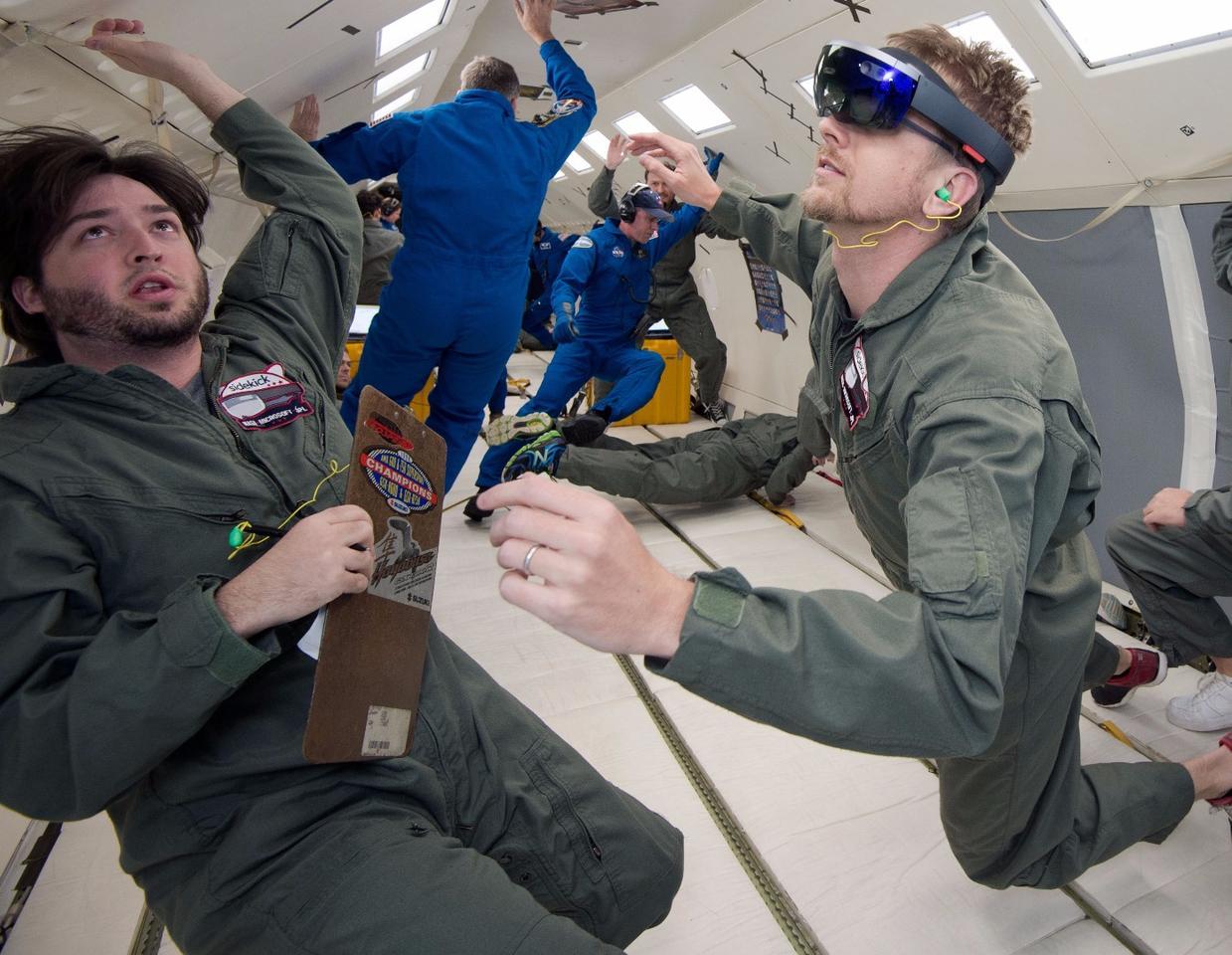 NASA and Microsoft engineers test Project Sidekick on NASA's Weightless Wonder C9 jet