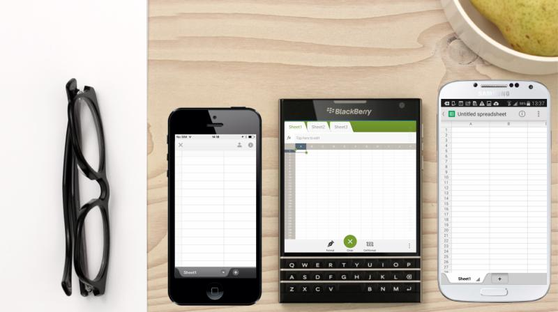 The handset is designed to provide a better experience when viewing spreadsheets and other documents