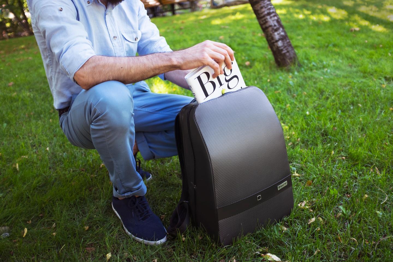 The Lumzag backpack is presently on Indiegogo