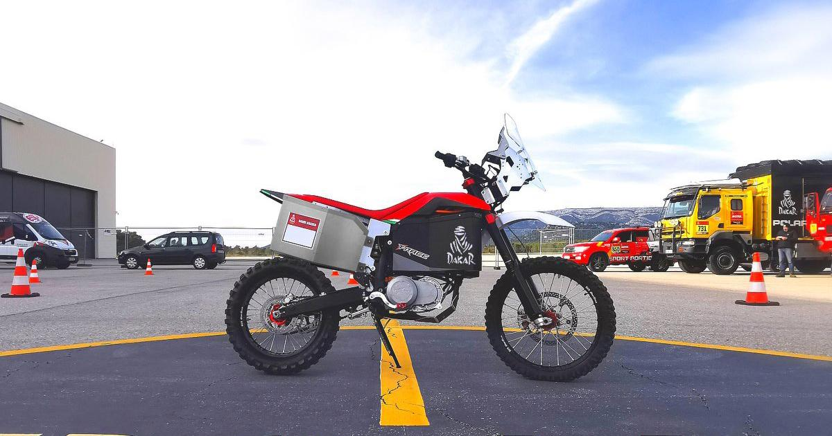 Tacita will debut its 2020 T-Race Rally electric motorcycle at the Dakar