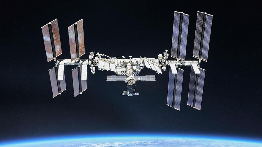 The International Space Station, captured in 2018