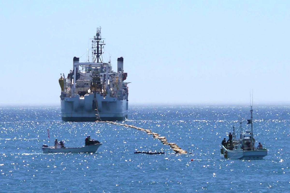 Cable Landing at Minami-boso city, Chiba, Japan