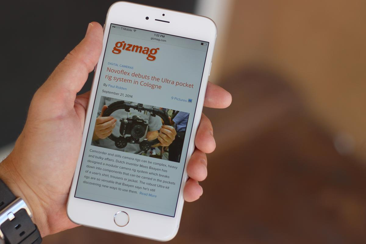 Gizmag takes a first look at Apple's first phablet, the new iPhone 6 Plus (Photo: Will Shanklin/Gizmag.com)
