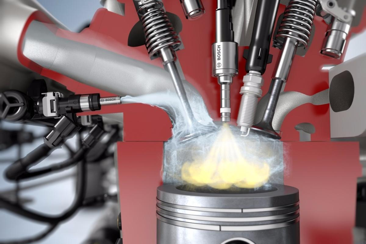 Water mightn't be the most natural companion for combustion, but Bosch says there are big benefits to be drawn from introducing it into the mix